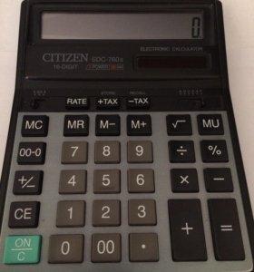 Калькулятор Citizen SDC-760II 16-разрядный
