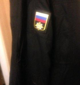 Куртка зимняя чёрная военная!!и кепка