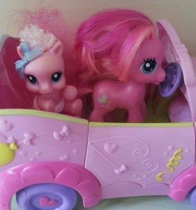 """My little pony"" две лошадки в кабриолете"