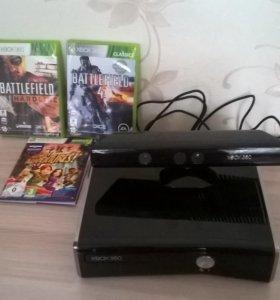 Xbox 360 250gb + kinect + игры