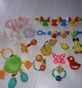 Погремушки,игрушки и растяжки на коляску,l9 шт