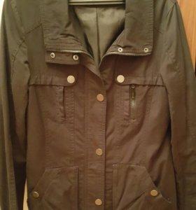 Черная х/б куртка