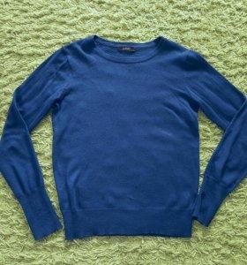 Джемпер синий трикотаж 40-42 размер