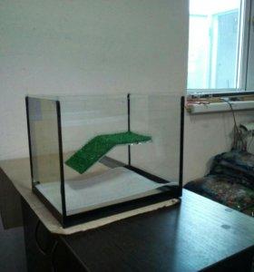 Новый 10 литровый террариум для черепах