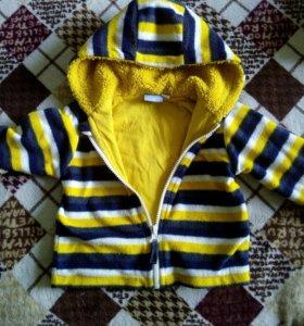 Флисовая куртка теплая 74 +