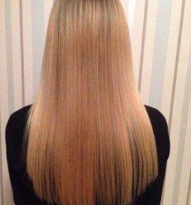 Выпрямление волос на дому)