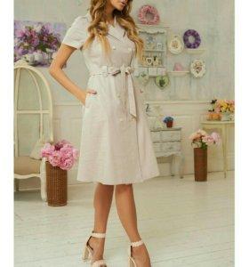 Очень красивое платье из натуральной ткани