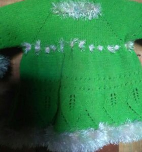 Платье вязаное для девочки.