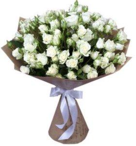"""Срезанные Розы """"Белая"""" напрямую из теплиц цветы"""