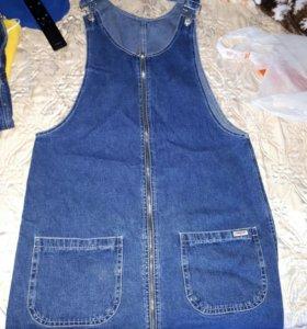 Новый джинсовый сарафан р 44 46