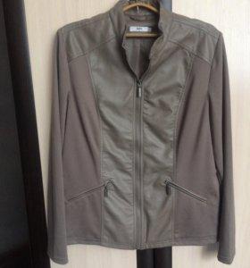 Куртка из смеси материалов