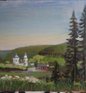 Пейзажи на виды города Миньяра (Челябинская обл.)