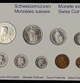 Набор монет Швейцарии 1993-1995