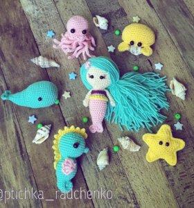 Морские друзья (набор игрушек ручной работы)