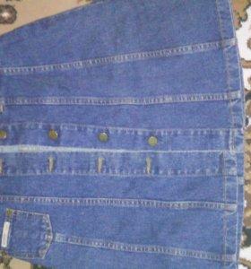 джинсовая юбка на тонкую талию