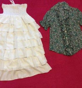 Юбка- платье, блузка