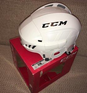 Шлем хоккейный CCM SR взрослый (белый)