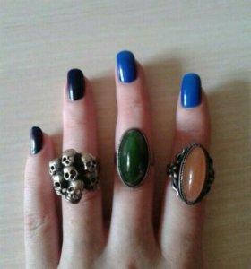 Винтажные серебряные кольца