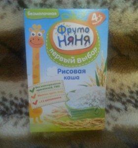 """Каша """"Фруто Няня"""" рисовая безмолочная (новая)"""