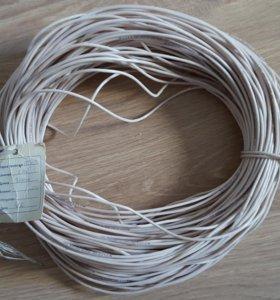 Провод пв3 1х1.5 белый, многопроволочный