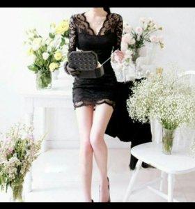 Платье новое кружевное черное