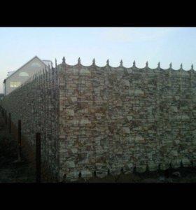 Забор с пиками, профнастил