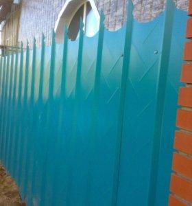 Забор. забор из профнастила лувр