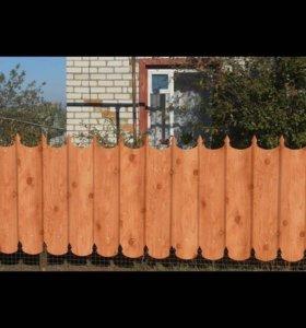 Металлопрофиль, забор с пиками, профнастил