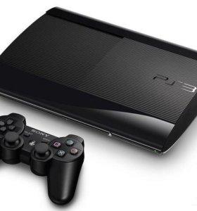PS3 super slim 12gb своей памяти+ 250gb встроенной