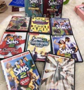 Компьютерные игры The Sims 2+дополнения