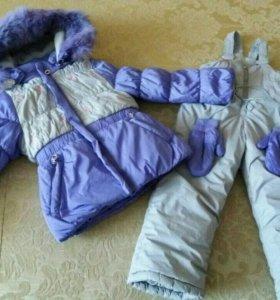 Зимний костюм на девочку 92-98