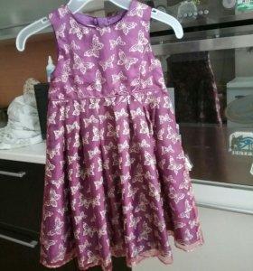 Нарядное платье из гепюра 98/104