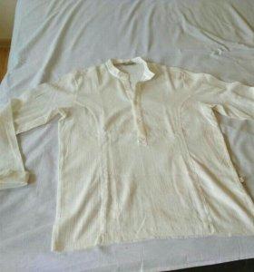 Новая рубашка хлопок марлёвка лето море
