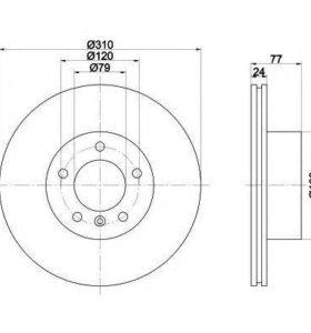 Комплект диски и колодки для BMW e60