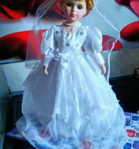 Фарфоровая кукла 40см