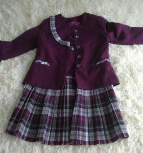 Школьный костюм (пиджак+сарафан)