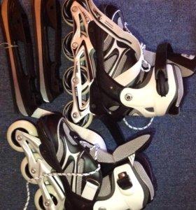Роликовые коньки 2 в 1 (+ зимние коньки)