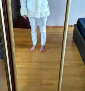 Белая зимняя куртка,новая