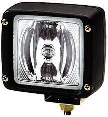 HELLA Фара рабочего освещения + лампа Н3 General Electric 24V 70W + провод для подключения