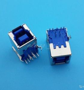 USB разъем 3.0 Type B мама