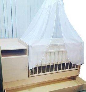 Кровать-Трансформер/светлый дуб