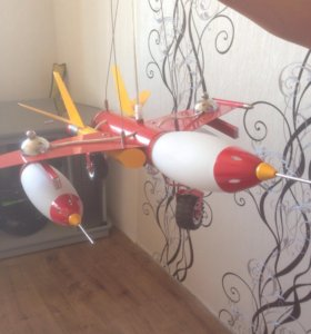 Люстра самолёт в детскую комнату
