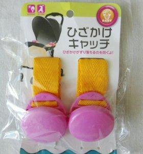 Зажим для одеяла, чехла в коляску, розовый цвет
