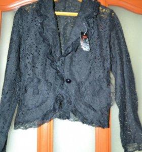 новый гипюровый пиджак