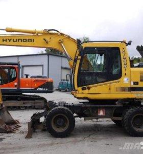 Сдам колесный экскаватор Hyundai Robex 140W-7