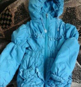 Куртка  для маленькой модницы весна осень 3-5лет