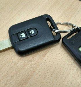 Ключи от Nissan tiida с брелом от starline