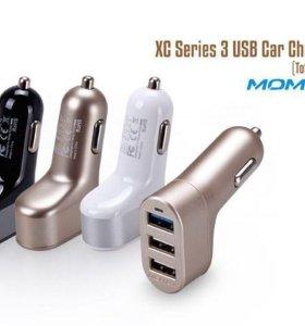 Автомобильный блок питания Momax 4.4A (3USB)