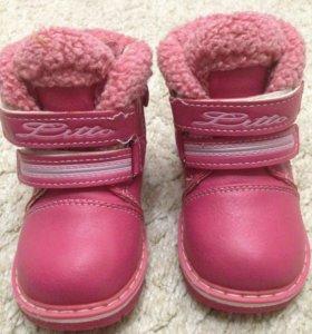 Теплые ботиночки для девочки на зиму