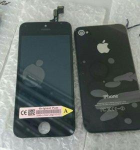Дисплей в сборе с тач iPhone 5s space gray